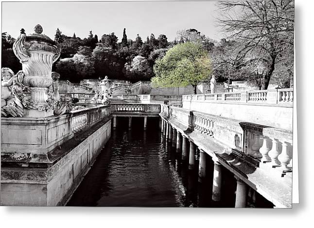Public Bath Greeting Cards - Jardin De La Fontaine 3 Greeting Card by Andrew Fare