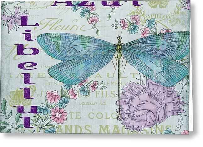 Azur Digital Greeting Cards - Jardin De Luxe-JP3081 Greeting Card by Jean Plout