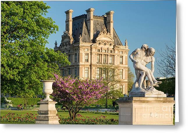 Samaritan Greeting Cards - Jardin des Tuileries - Paris Greeting Card by Brian Jannsen