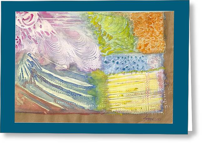 And Sand-mix Greeting Cards - Jardin  Greeting Card by Ivonne Sequera