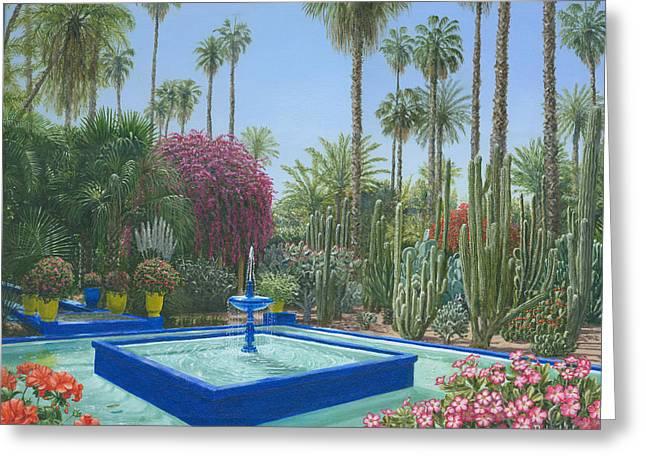 Jardin Majorelle Greeting Card by Richard Harpum