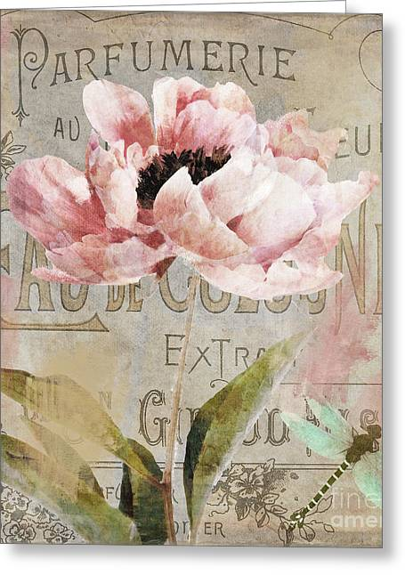 Jardin Rouge I Greeting Card by Mindy Sommers