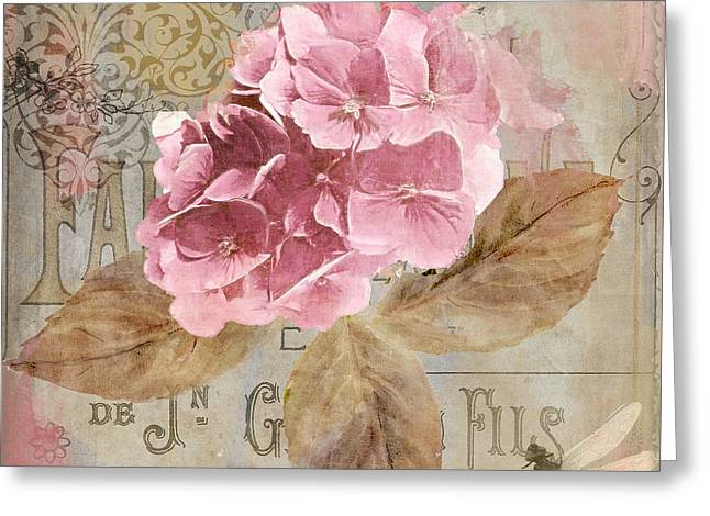 Jardin Rouge II Greeting Card by Mindy Sommers