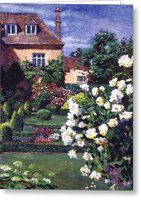 Stone Chimney Greeting Cards - Jardin De Chateau Greeting Card by David Lloyd Glover