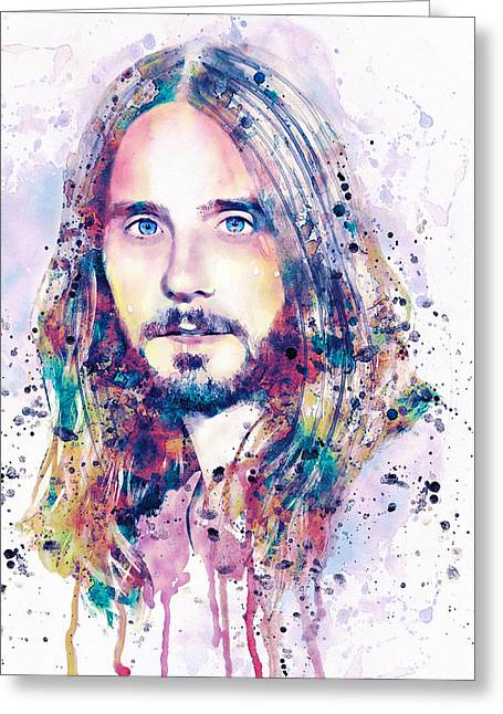 Modern Digital Art Digital Art Greeting Cards - Jared Leto Greeting Card by Marian Voicu