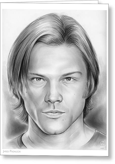 Jared Padalecki Greeting Card by Greg Joens