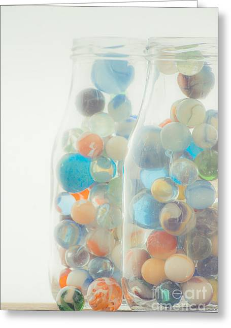 Marble Eye Greeting Cards - Jars full of marbles Greeting Card by Edward Fielding
