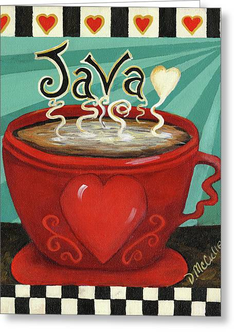 Java Greeting Card by Debbie McCulley