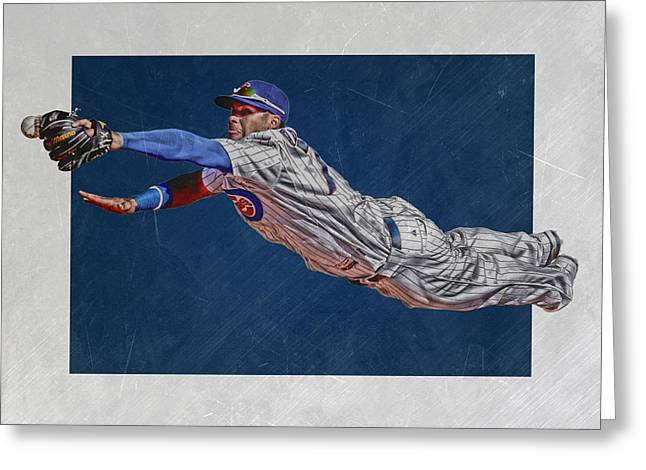 Javier Baez Chicago Cubs Art 2 Greeting Card by Joe Hamilton
