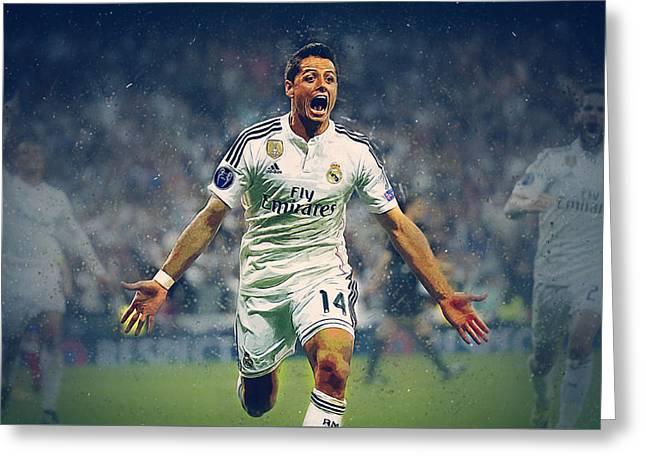 Javier Hernandez Balcazar Greeting Card by Semih Yurdabak