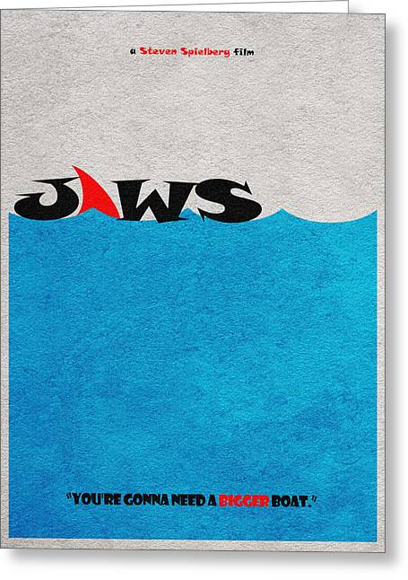 Classic Horror Greeting Cards - Jaws Greeting Card by Ayse Deniz