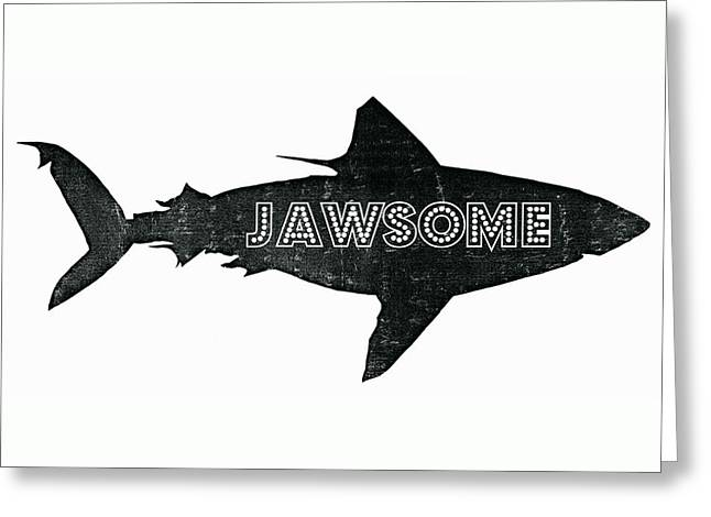 Isolated Mixed Media Greeting Cards - Jawsome Greeting Card by Michelle Calkins