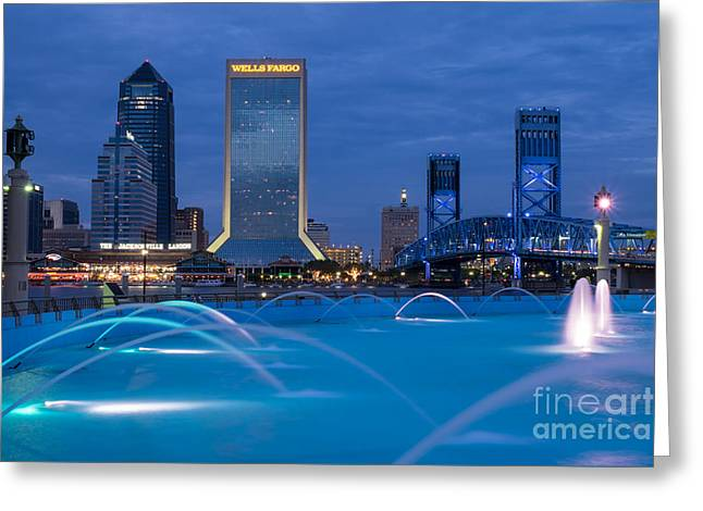 Jacksonville Greeting Cards - Jax Blues - Jacksonville Florida Greeting Card by Dawna  Moore Photography