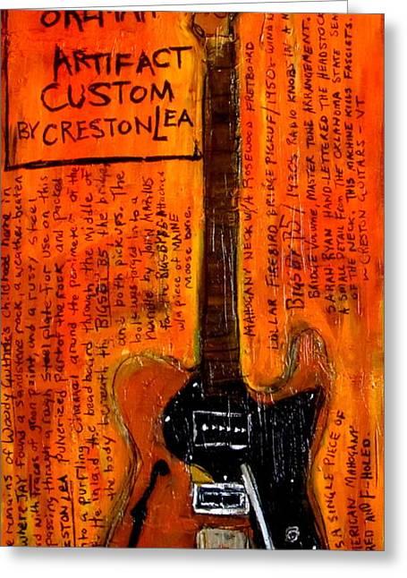 Tupelo Greeting Cards - Jay Farrars Okemah Artifact Custom Greeting Card by Karl Haglund