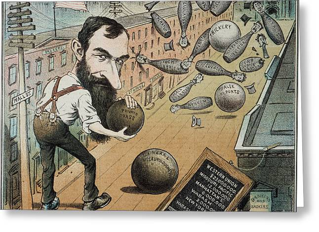 Political Acts Greeting Cards - Jay Gould Cartoon, 1882 Greeting Card by Granger