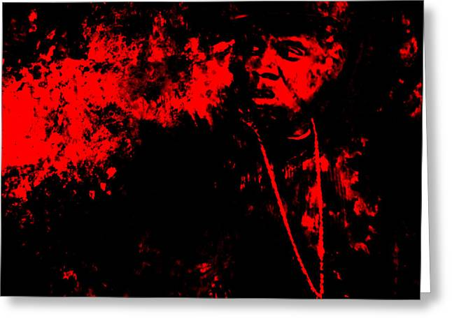Best Sellers -  - Dr. J Greeting Cards - Jay Z 02a Greeting Card by Brian Reaves