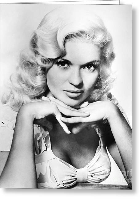 Starlet Photographs Greeting Cards - Jayne Mansfield  (1933-1967) Greeting Card by Granger