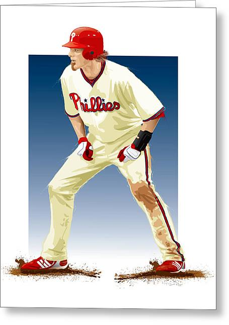 Phillies Digital Greeting Cards - Jayson Werth Greeting Card by Scott Weigner