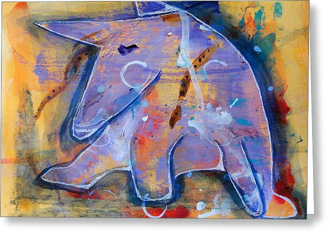 Puppies Paintings Greeting Cards - Jazz Baby Greeting Card by Jenn Ashton