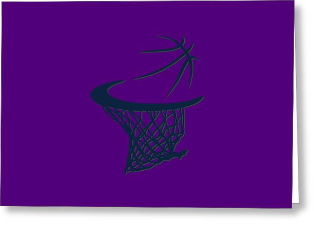 Jazz Basketball Hoop Greeting Card by Joe Hamilton