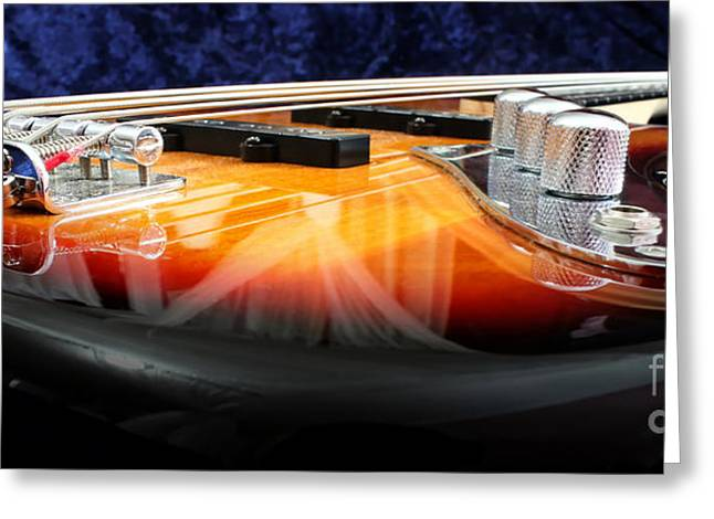 Jazz Bass Beauty Greeting Card by Todd A Blanchard