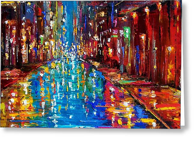 Jazz Drag Greeting Card by Debra Hurd