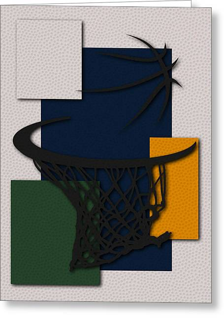 Utah Jazz Greeting Cards - Jazz Hoop Greeting Card by Joe Hamilton
