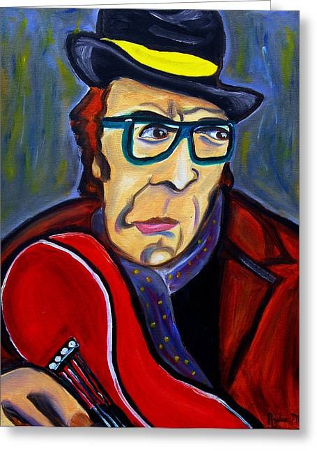 Costello Greeting Cards - Jazz Man Greeting Card by Azalea Millet