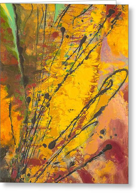 Improvisation Greeting Cards - Jazz Greeting Card by Marc Dmytryshyn