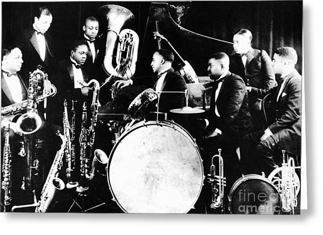 Drummers Photographs Greeting Cards - JAZZ MUSICIANS, c1925 Greeting Card by Granger