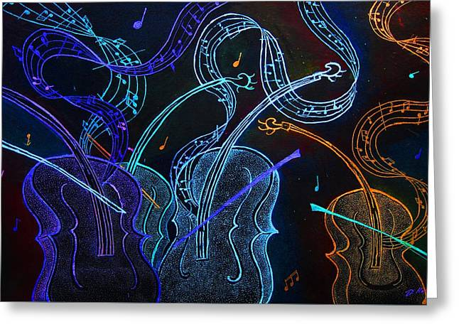 Jazz N Blues Greeting Card by Dwayne  Hamilton