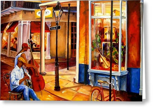 Jazz On Royal Street Greeting Card by Diane Millsap