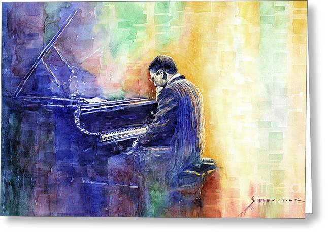 Jazz Pianist Greeting Cards - Jazz Pianist Herbie Hancock  Greeting Card by Yuriy Shevchuk