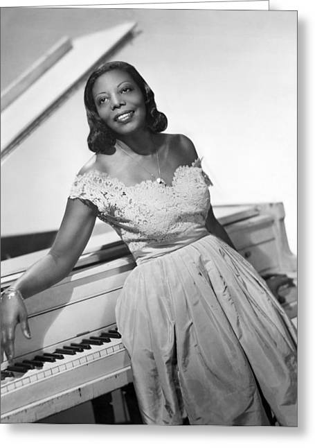 Jazz Pianist Greeting Cards - Jazz Pianist Mary Lou Williams Greeting Card by Underwood Archives