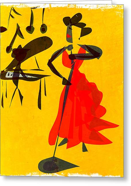 Jazz Review Greeting Card by Betsey Walker Culliton