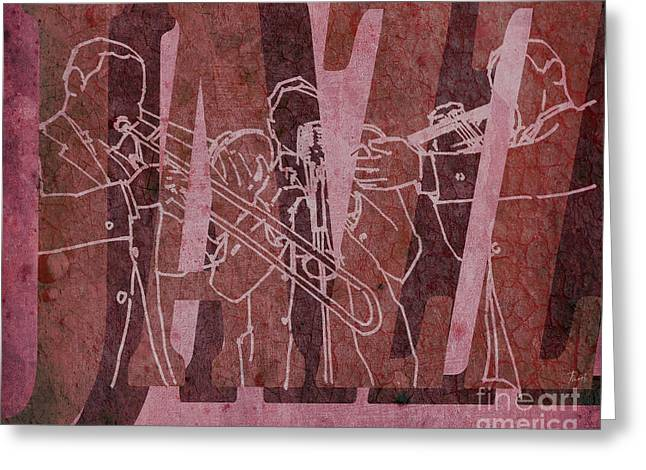 Regalo Greeting Cards - Jazz Trio 33 - Red Greeting Card by Pablo Franchi
