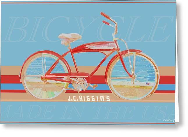 J.c. Higgins Bicycle Greeting Card by Heather Saulsbury