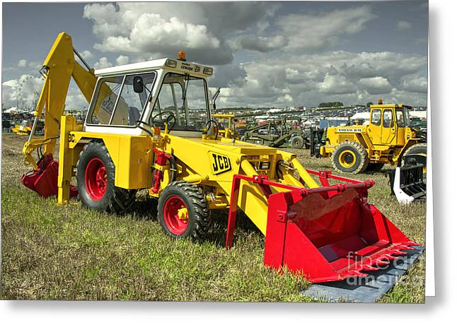 Jcb  Greeting Card by Rob Hawkins