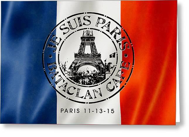 Je Suis Paris Greeting Card by Gary Grayson