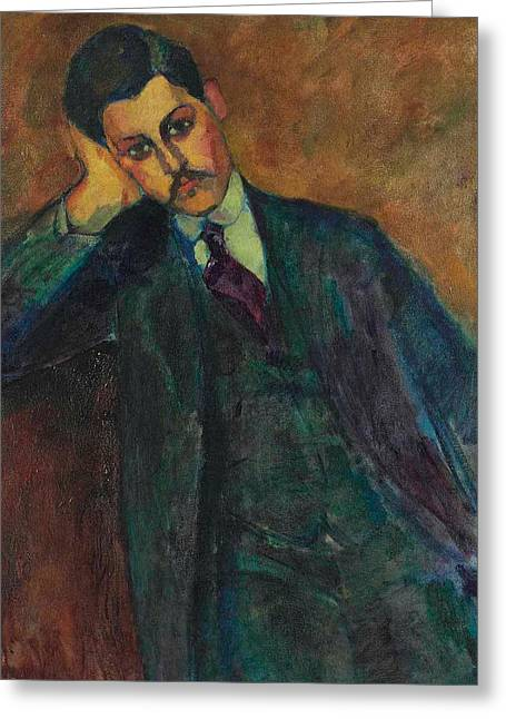 Jean Alexandre, 1909 Greeting Card by Amedeo Modigliani