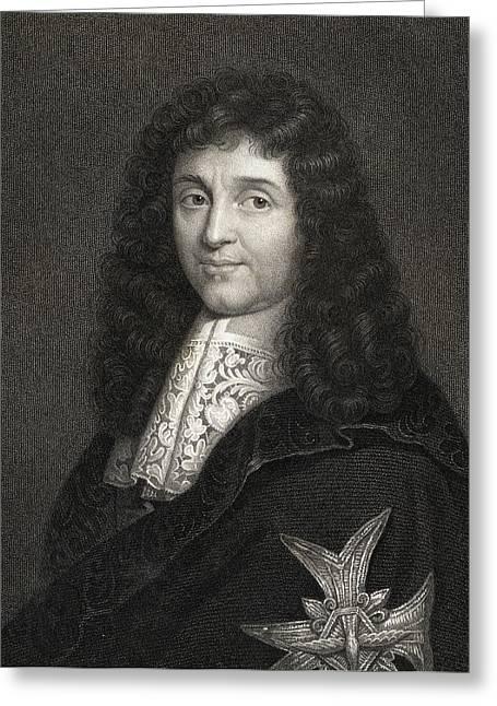Colbert Greeting Cards - Jean Baptiste Colbert 1619-1683 Greeting Card by Ken Welsh