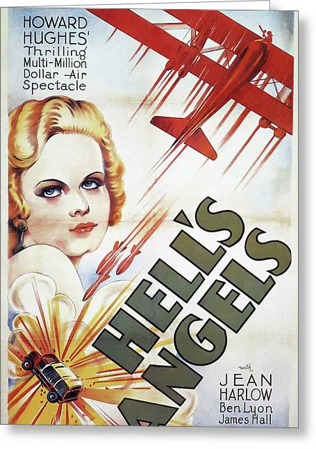 Jean Harlow In Hell's Angels 1930 Greeting Card by Mountain Dreams