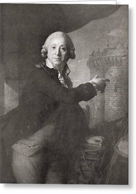Bastille Greeting Cards - Jean Henri Latude, 1725 Greeting Card by Ken Welsh