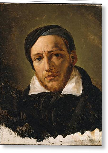 Horace Greeting Cards - Jean-Louis-Andre-Theodore Gericault  Greeting Card by Celestial Images