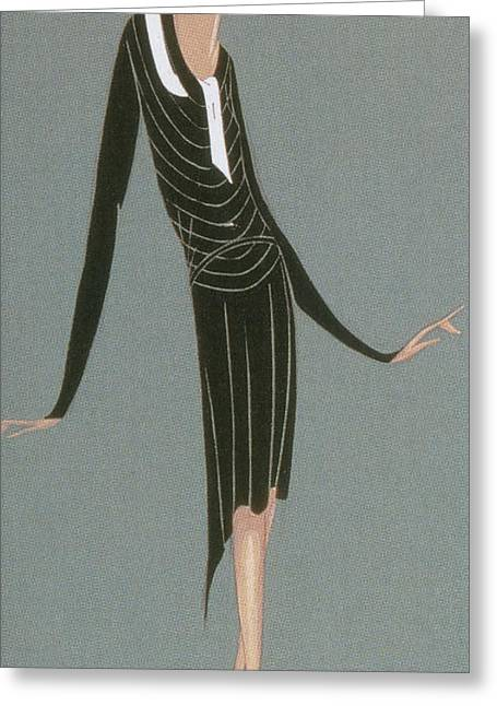 Apparel Greeting Cards - Jeanne Lanvin Fashion Design, 1920 Greeting Card by Science Source