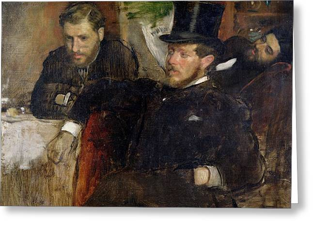 Jeantaud Linet And Laine Greeting Card by Edgar Degas