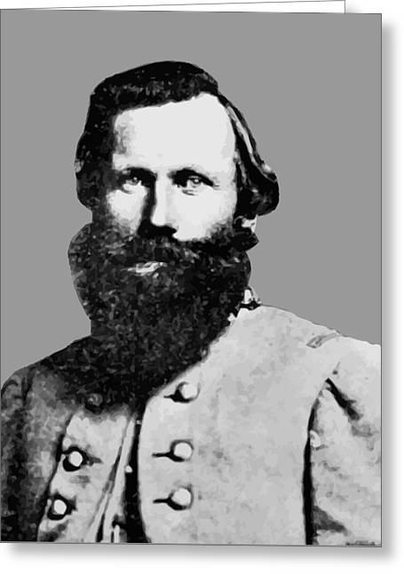 Civil War Digital Art Greeting Cards - J.E.B. Stuart Greeting Card by War Is Hell Store