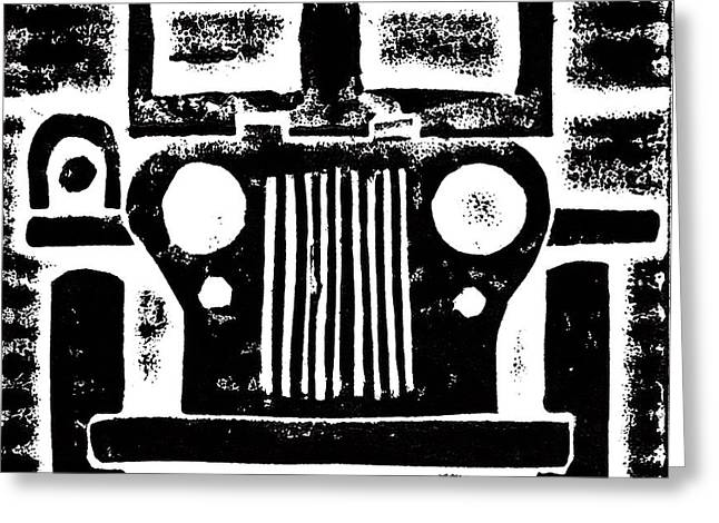 Jeep Greeting Card by Jame Hayes