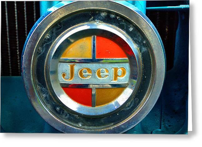 Jeep Logo 192 Greeting Card by Jeff Stallard