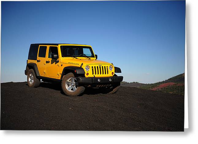 Wrangler Greeting Cards - Jeep Rubicon in the cinders Greeting Card by Scott Sawyer
